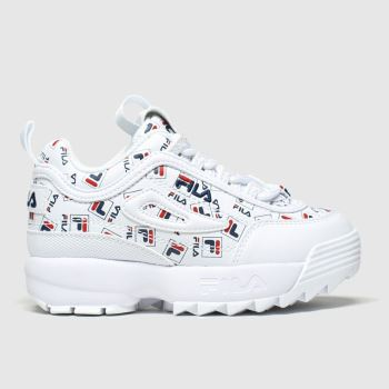 Fila White & Navy Disruptor Ii Multilogo Unisex Toddler