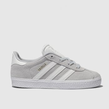 Adidas Light Grey Gazelle Unisex Toddler#