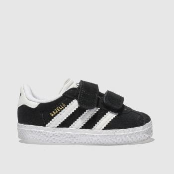 adidas Black & White Gazelle Unisex Toddler#