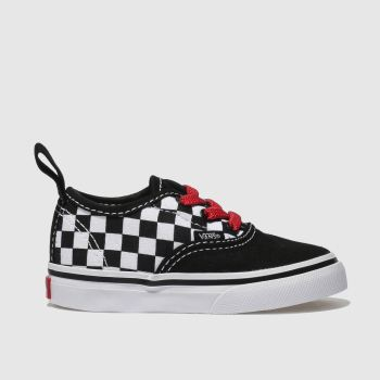 Vans Black & White Authentic Elastic Lace Unisex Toddler