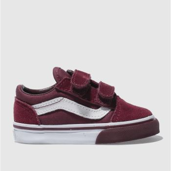 Vans Burgundy Old Skool V Unisex Toddler
