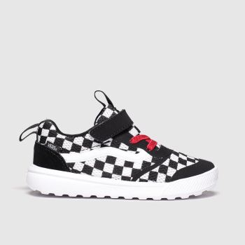 vans black & white ultrarange rapidweld trainers toddler