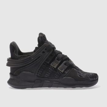 ADIDAS BLACK EQT SUPPORT ADV C TODDLER TRAINERS