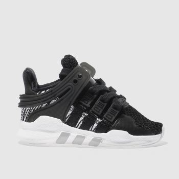 check out 138ce 1fef5 Kids Unisex black & white adidas eqt support adv c trainers ...