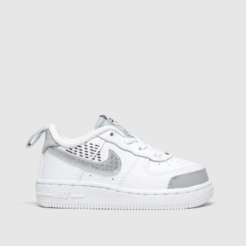 Nike White & grey Air Force 1 Lv8 2 c2namevalue::Unisex Toddler