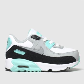 Nike White & grey Air Max 90 Ltr Unisex Toddler