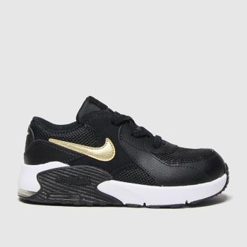 Nike Black & Gold Air Max Excee Unisex Toddler#