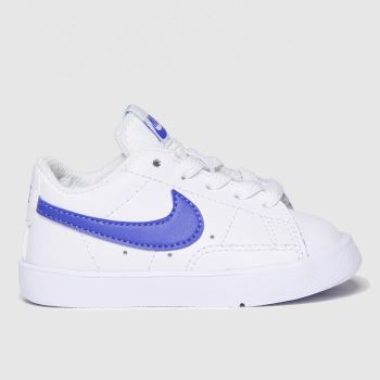 Nike White & Blue Blazer Low Unisex Toddler#