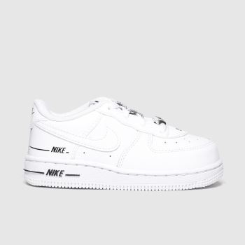Nike White & Black Air Force 1 Lv8 3 Unisex Toddler#