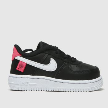 Nike Black & Red Air Force 1 Lv8 1 Ww Unisex Toddler#