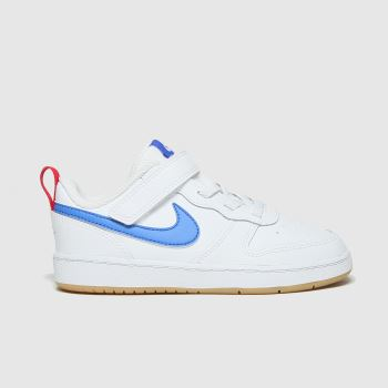 Nike White & Blue Court Borough 2 Unisex Toddler#