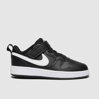 Nike Black & White Court Borough 2 Unisex Toddler