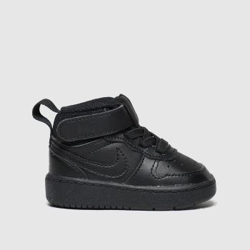 Nike Black Court Borough Mid 2 c2namevalue::Unisex Toddler