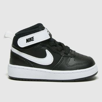 Nike Black & White Court Borough Mid 2 Unisex Toddler