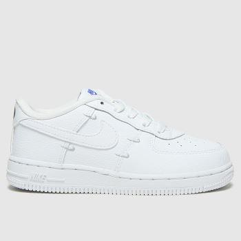 Nike White & Silver Force 1 Lv8 Ho20 Unisex Toddler#