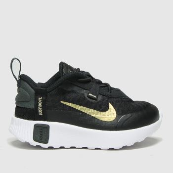 Nike Black & Gold Reposto Unisex Toddler