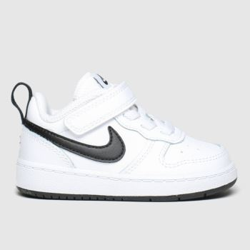 Nike White & Black Court Borough Low 2 Unisex Toddler