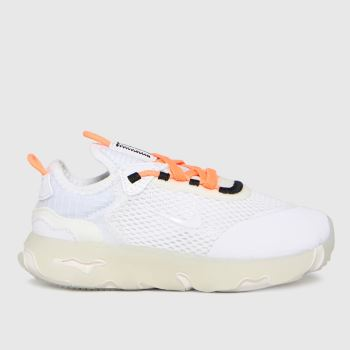 Nike White & Orange React Live Unisex Toddler