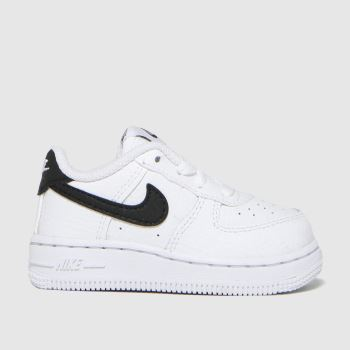 Nike White & Black Air Force 1 Unisex Toddler