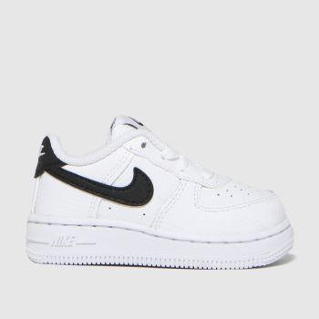 Nike White & Black Air Force 1 Unisex Toddler