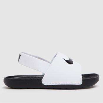 Nike White & Black Kawa Unisex Toddler