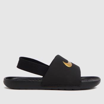 Nike Black & Gold Kawa Slide Unisex Toddler
