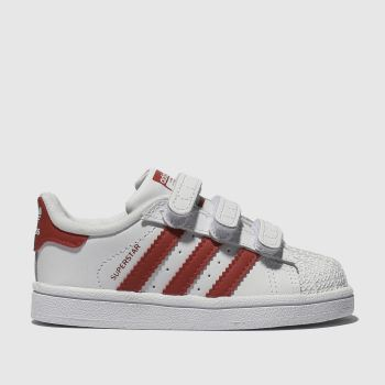 Adidas White & Red Superstar Unisex Toddler