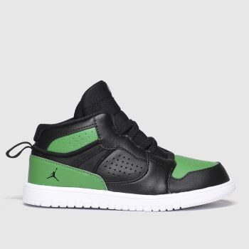 Nike Black & Green Jordan Access Unisex Toddler