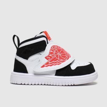 Nike Jordan White & Black Sky 1 Tdlr Unisex Toddler