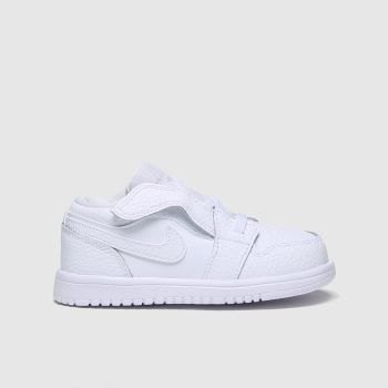 Nike Jordan White Air Jordan 1 Low Unisex Toddler#