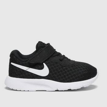 Nike black & white tanjun trainers toddler