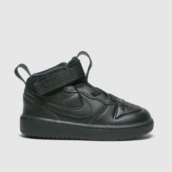 Nike Black Court Borough Mid 2 Unisex Toddler