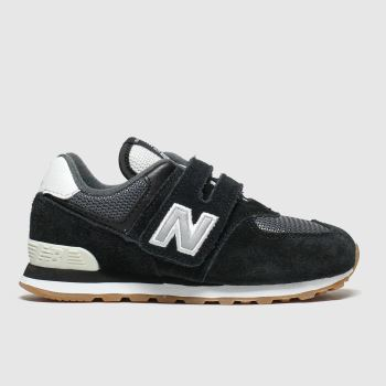 New Balance Black & Grey 574 c2namevalue::Unisex Toddler