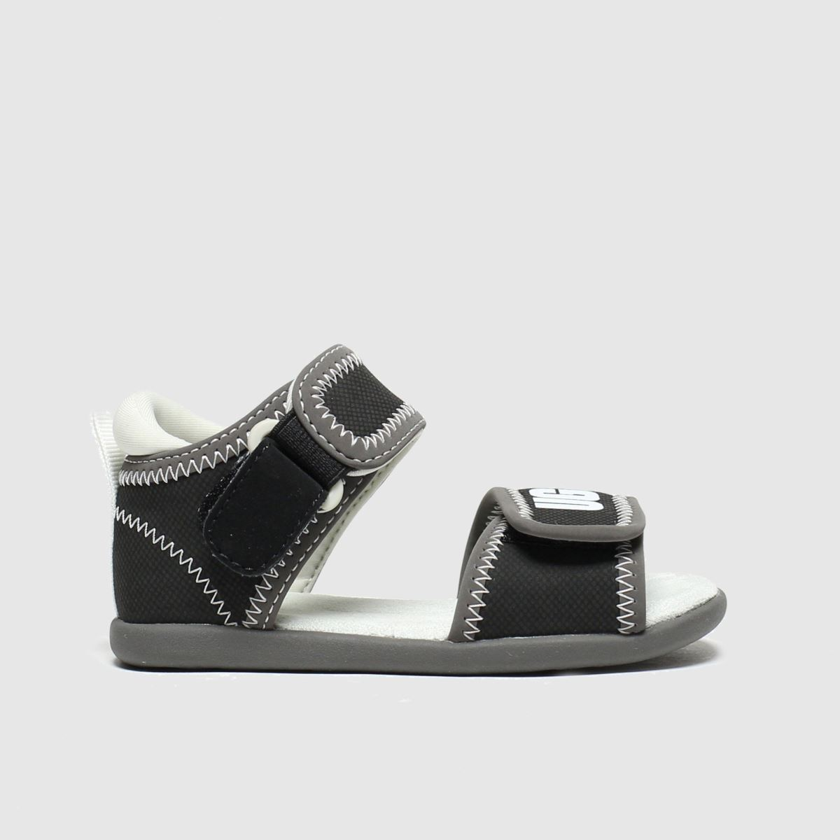 Ugg Black & Grey Delta Trainers Toddler