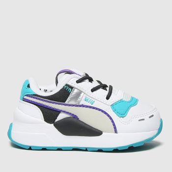 PUMA White & Green Rs 2.0 Futura Unisex Toddler