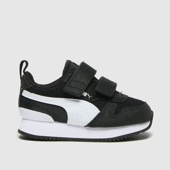 PUMA Black & White R78 V Unisex Toddler