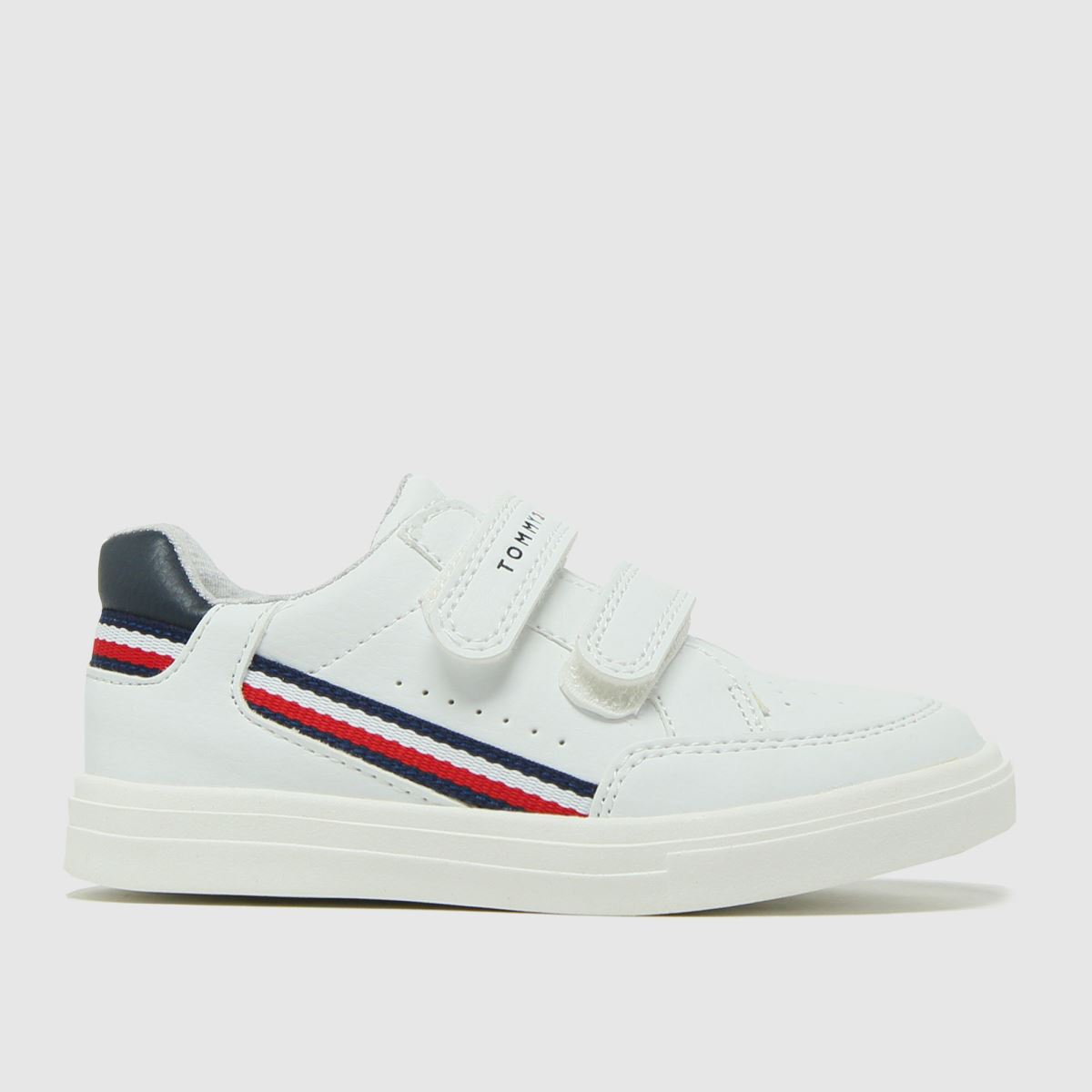 Tommy Hilfiger White & Navy Low Cut Velcro Sneaker Trainers Todd