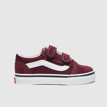 Vans Burgundy Old Skool V Unisex Toddler#