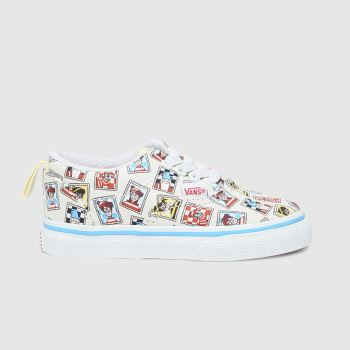 Vans White & Blue Era Elastic Lace Wheres Waldo Unisex Toddler