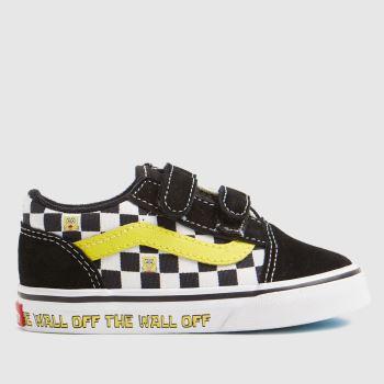 Vans black & white spongebob old skool trainers toddler