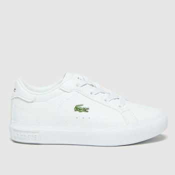 Lacoste White Powercourt Unisex Toddler