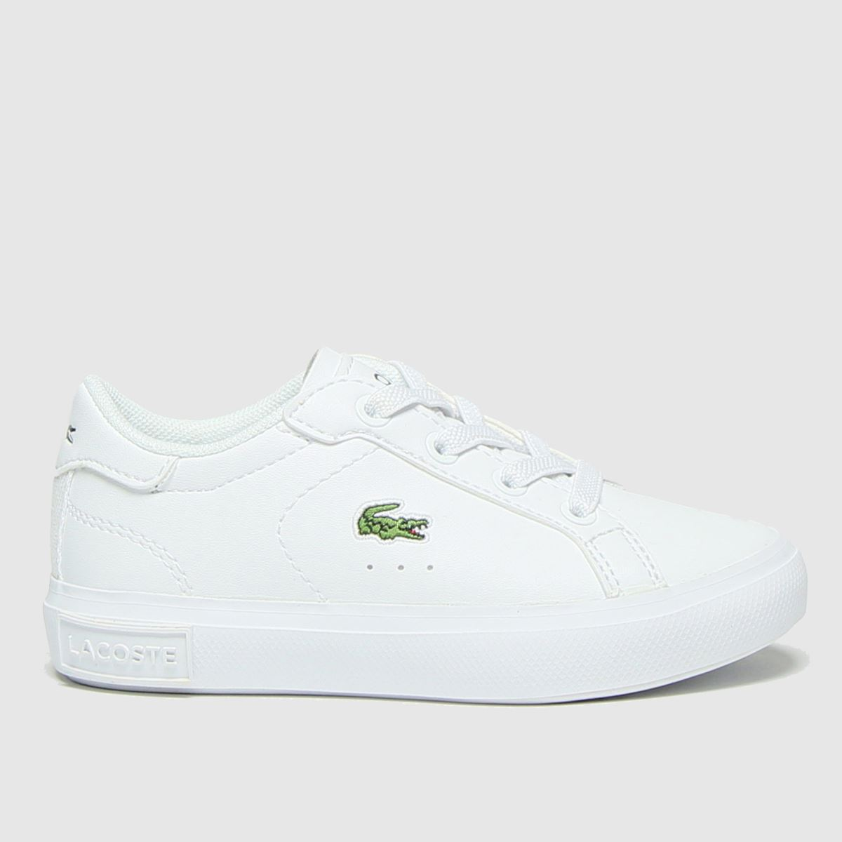Lacoste White Powercourt Trainers Toddler