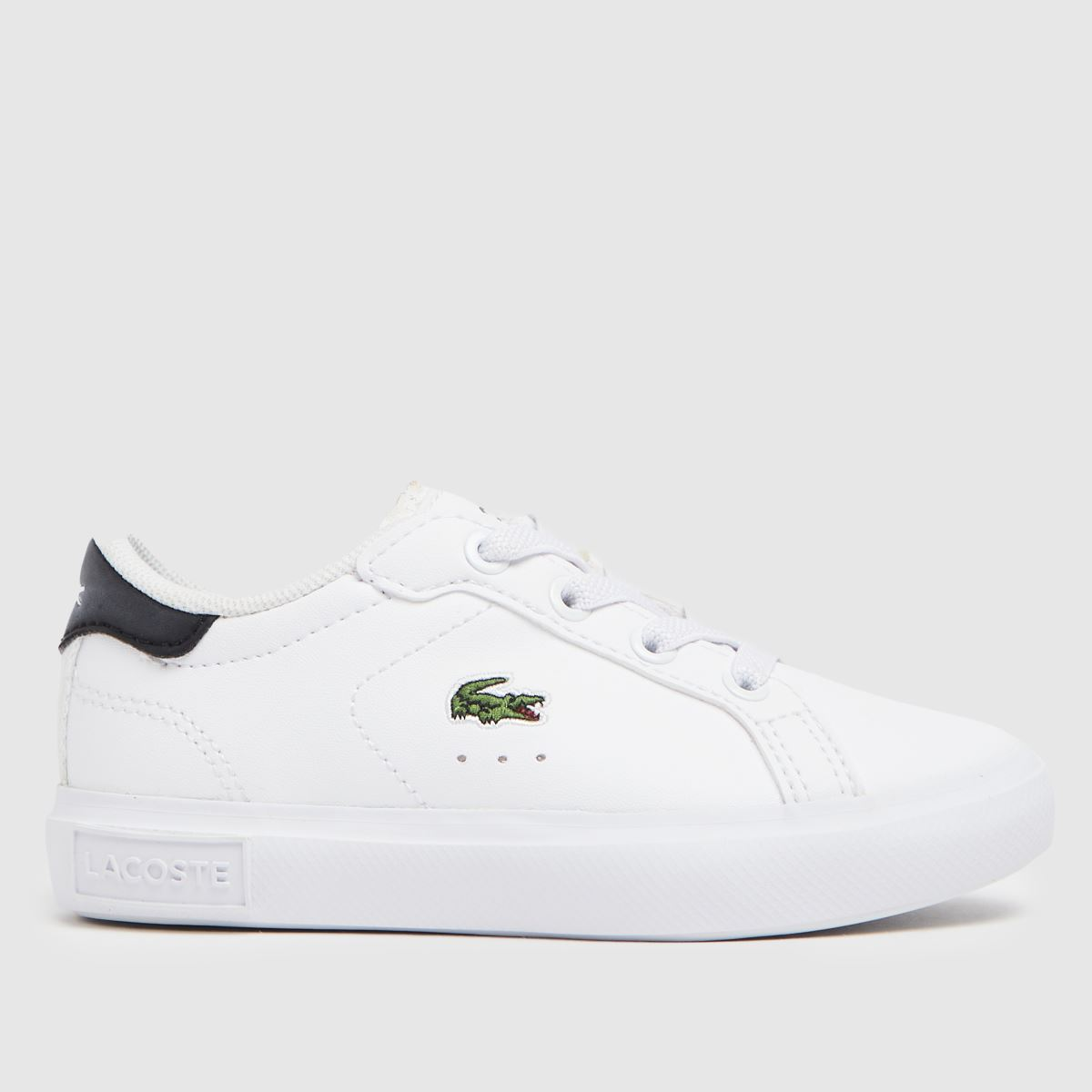 Lacoste White & Black Powercourt Trainers Toddler