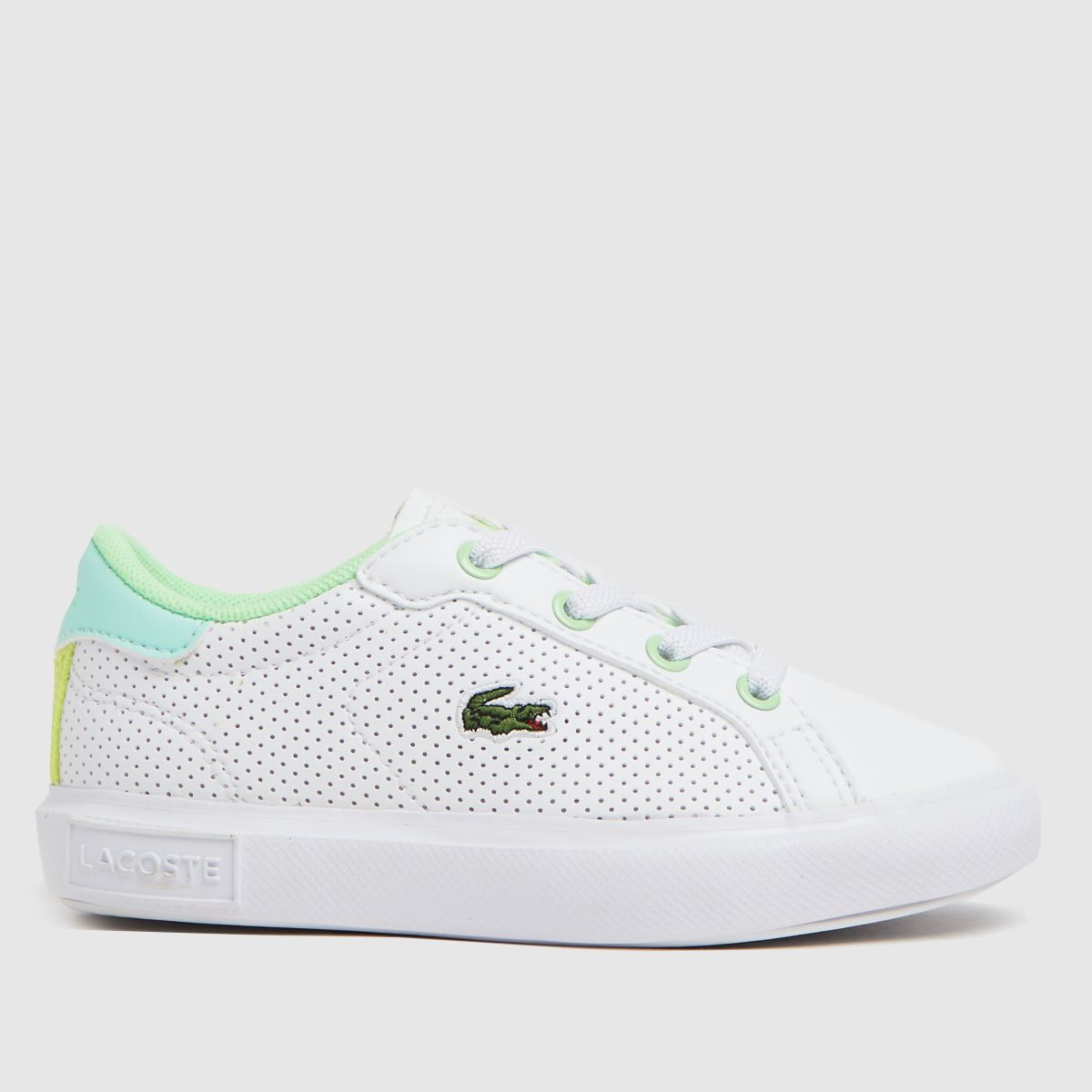 Lacoste White & Green Powercourt Tdlr Trainers Toddler