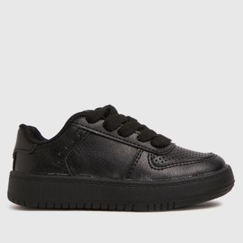 schuh Black Mighty Lace Up Unisex Toddler