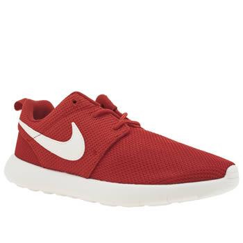 nike junior roshe run trainer red