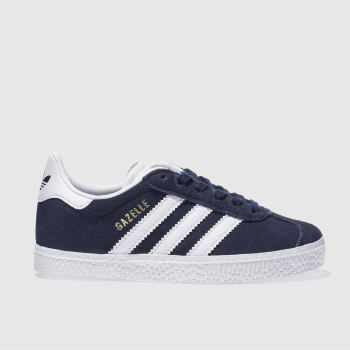 adidas Navy & White Gazelle Unisex Junior#