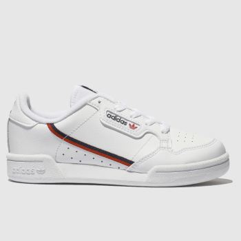 adidas White & Red Continental 80 Unisex Junior