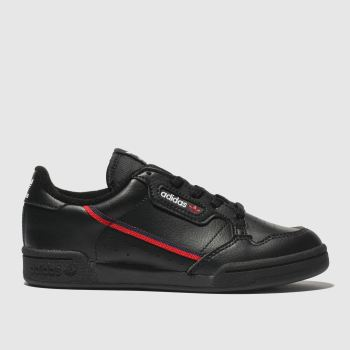 Adidas Black & Red Continental 80 Unisex Junior