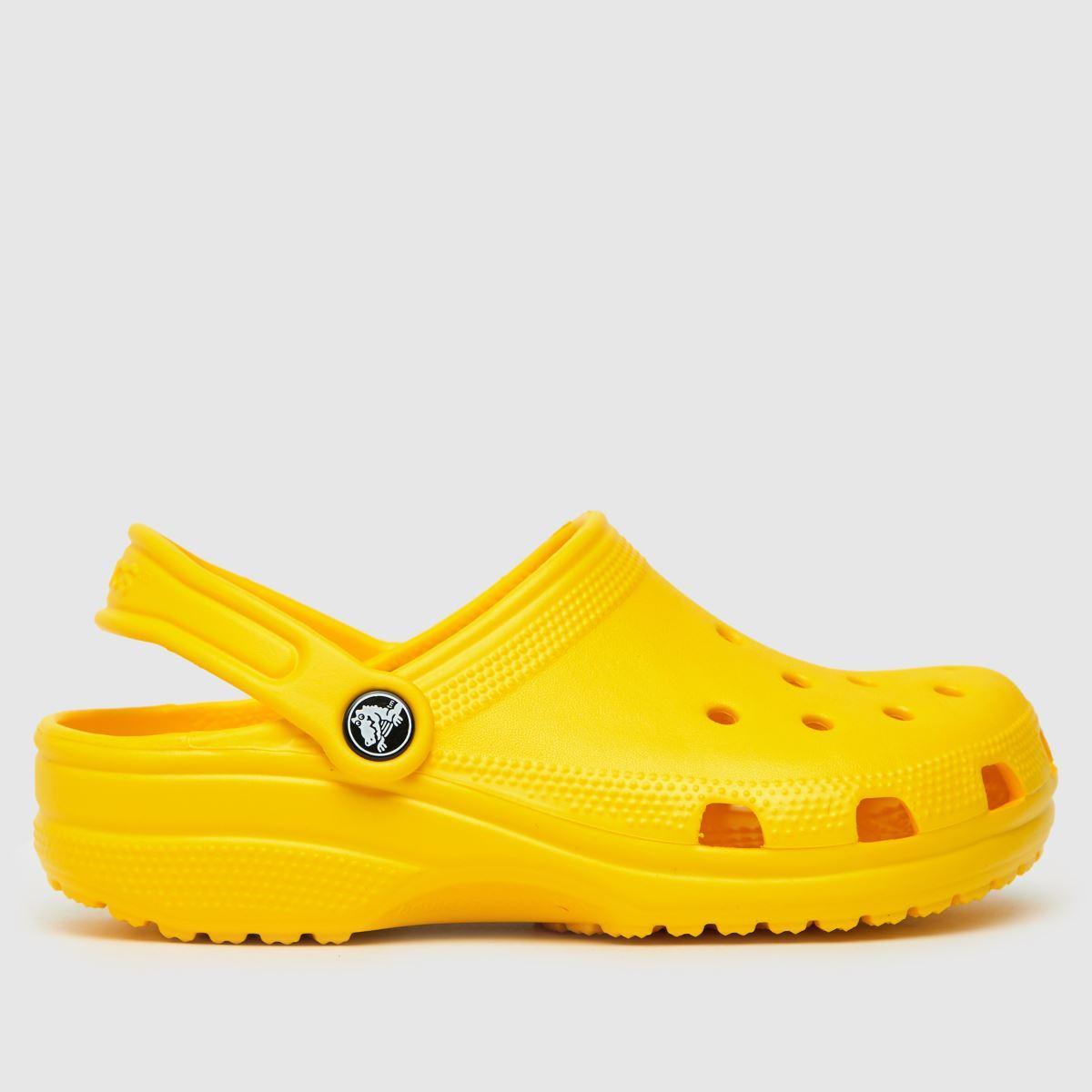 Crocs Yellow Classic Clog Trainers Junior